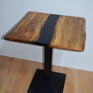 Table de bistrot / guéridon rivière noire